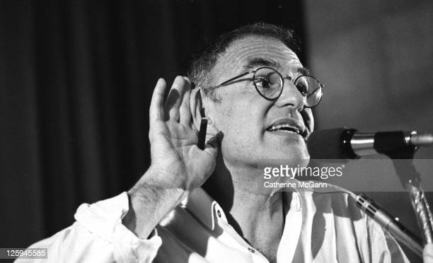 Larry Kramer at Village Voice AIDS conference on June 6 1987 in New York City New York