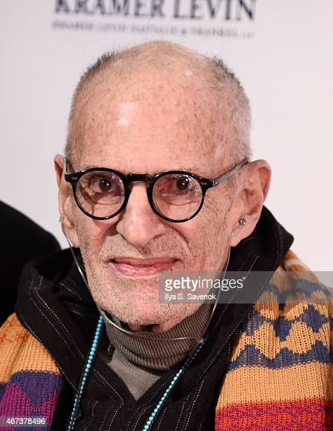 Larry Kramer attends the 2015 Gay Men's Health Crisis Gala Honoring Larry Kramer at Cipriani 42nd Street on March 23 2015 in New York City