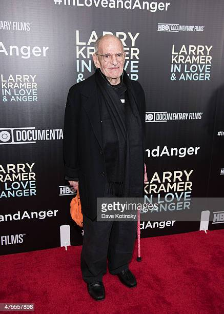 Larry Kramer attends the Larry Kramer In Love And Anger New York premiere at Time Warner Center on June 1 2015 in New York City