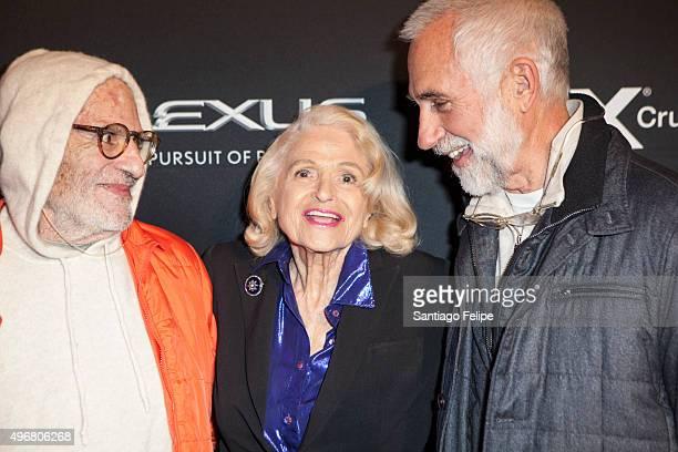 Larry Kramer Edie Windsor and David Webster attend 2015 Out100 Celebration at Gustavino's on November 11 2015 in New York City