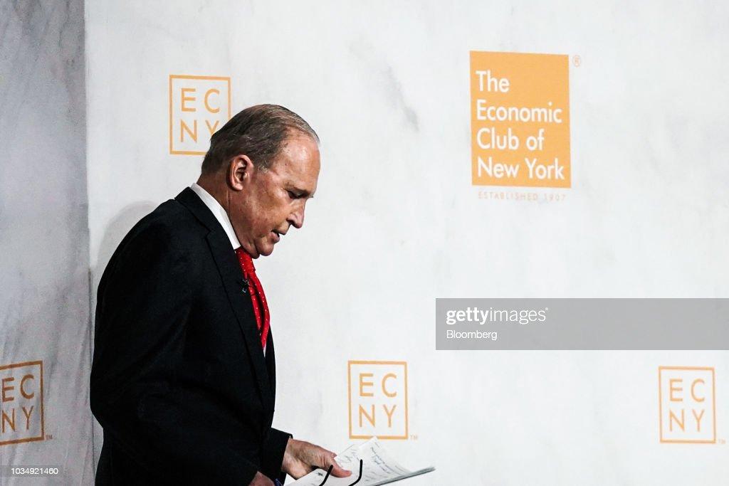 National Economic Council Director Larry Kudlow Speaks At Economic Club Of New York
