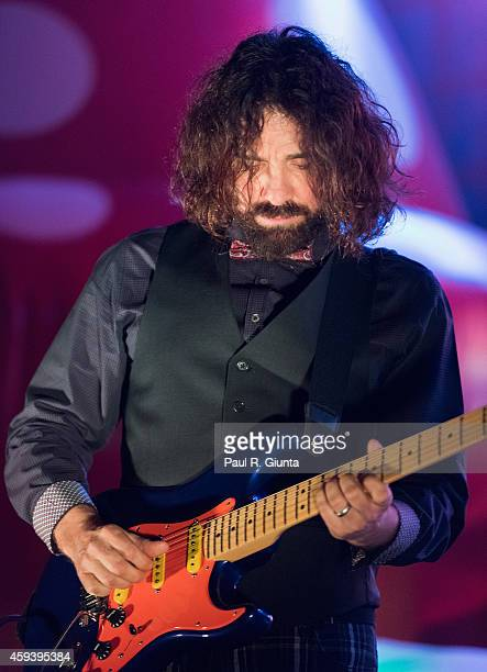 Larry LaLonde of Primus performs on stage at Orpheum Theatre on November 21, 2014 in Los Angeles, California.