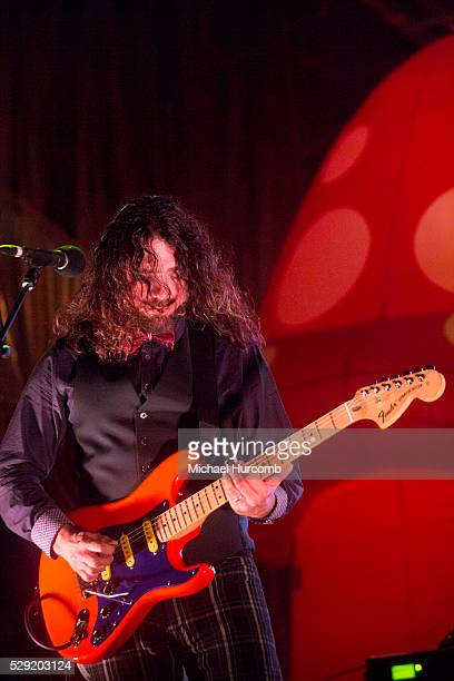 Larry Lalonde performs with Primus and the Chocolate Factory with the Fungi Ensemble during the Festival D'ete De Quebec on July 14, 2015 in Quebec...
