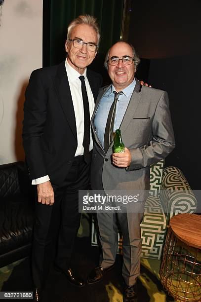 Larry Lamb and Danny Baker attend the National Television Awards cocktail reception at The O2 Arena on January 25, 2017 in London, England.
