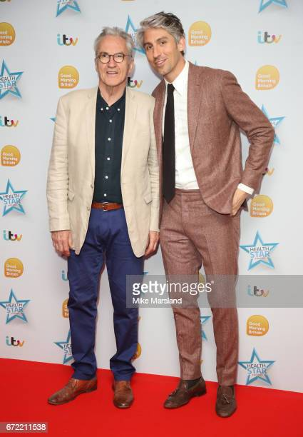 Larry Lamb and George Lamb attend the Good Morning Britain Health Star Awards on April 24 2017 in London United Kingdom