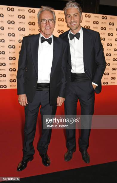 Larry Lamb and George Lamb attend the GQ Men Of The Year Awards at the Tate Modern on September 5 2017 in London England