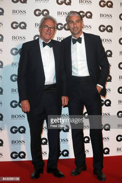Larry Lamb and George Lamb attend the GQ Men Of The Year Awards at Tate Modern on September 5 2017 in London England