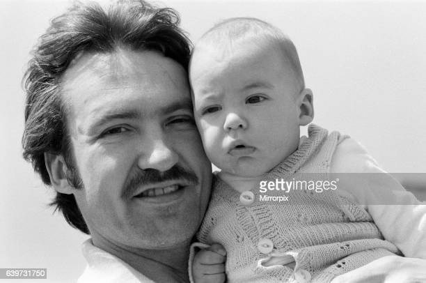 Larry Lamb who starred in the popular television series 'Fox' pictured with his 5 month old son George at their home in Fulham 14th May 1980