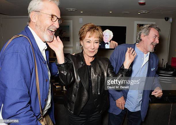 Larry Lamb Zoe Wanamaker and Gawn Grainger attend an after party celebrating the press night performance of Celia Imrie Laughing Matters at the St...
