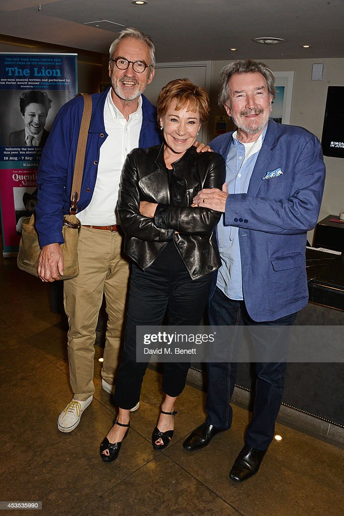 Larry Lamb, Zoe Wanamaker and Gawn Grainger attend an after party celebrating the press night performance of 'Celia Imrie: Laughing Matters' at the St James Theatre on August 12, 2014 in London, England.