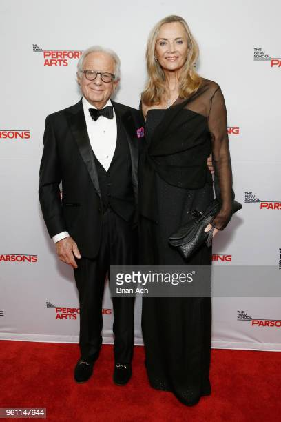 Larry Leeds and Bonnie Pfeifer Evans attend the 70th Annual Parsons Benefit on May 21 2018 in New York City