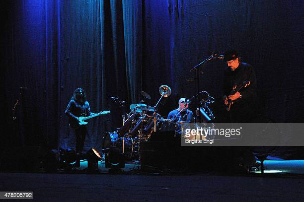 Larry Ler LaLonde Tim Herb Alexander and Les Claypool of Primus perform at O2 Academy Brixton on June 23 2015 in London United Kingdom