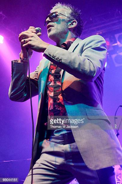 Larry Love of Alabama 3 performs on stage at O2 Academy on November 13 2009 in Newcastle upon Tyne England