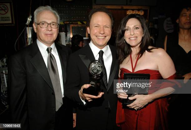 """Larry Magid, Billy Crystal and Janice Crystal, winners Best Special Theatrical Event for """"700 Sundays"""""""