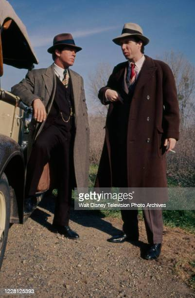 Larry Manetti, Brion James appearing in the period drama ABC tv movie 'The Kansas City Massacre'.
