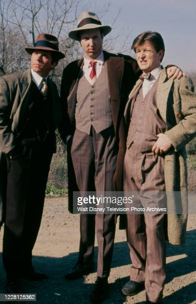 Larry Manetti, Brion James, Gary Sandy appearing in the period drama ABC tv movie 'The Kansas City Massacre'.