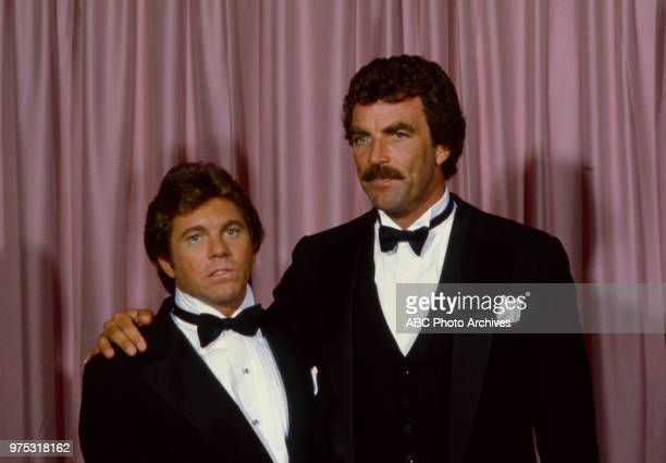 Larry Manetti Tom Selleck appearing at the 34th Primetime Emmy Awards Pasadena Civic Auditorium Pasadena CA September 19 1982