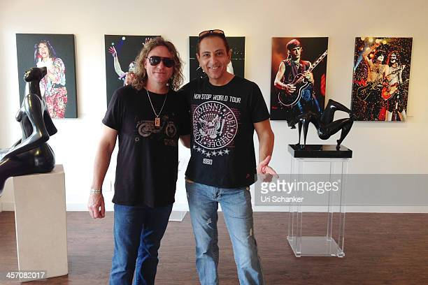 Larry Marano and Matt Kramer attend Blue Gallery Presents The Art Of Rock N' Roll By Larry Marano on December 15 2013 in Fort Lauderdale Florida