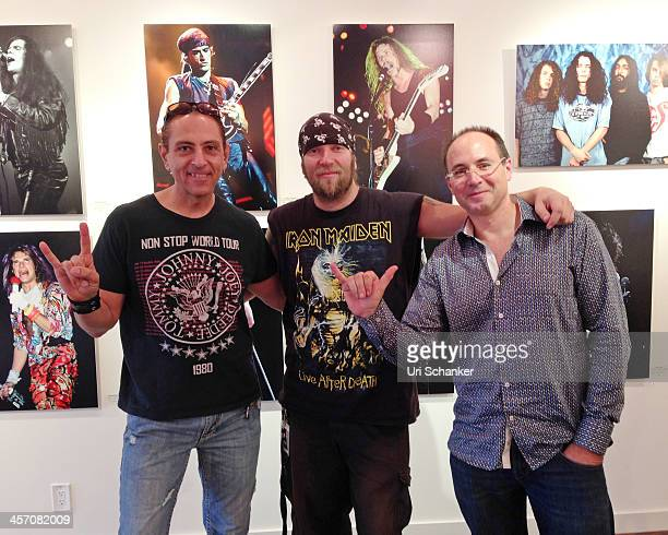 Larry Marano Patrick Johansson and Rami Rotkopf attend Blue Gallery Presents The Art Of Rock N' Roll By Larry Marano on December 15 2013 in Fort...