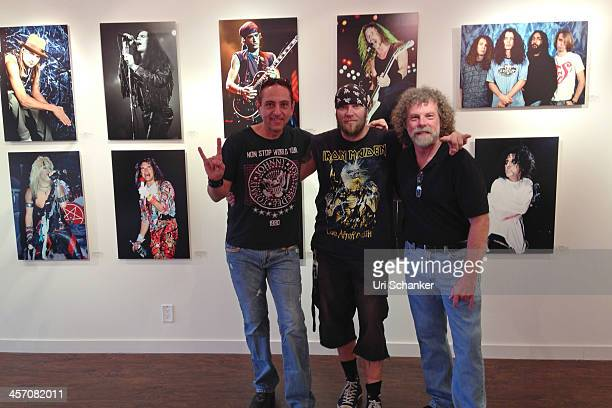 Larry Marano Patrick Johansson and Tom Craig attend Blue Gallery Presents The Art Of Rock N' Roll By Larry Marano on December 15 2013 in Fort...
