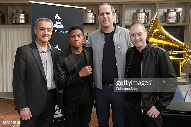 Larry Mattera Gallant CEO of Warner Brothers Records Cameron Strang and EVP of Creative at Warner Brothers Dion Singer attend the 3rd Annual Los...