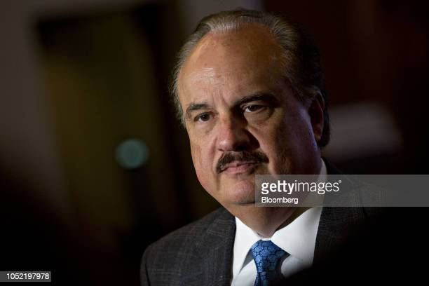 Larry Merlo president and chief executive officer of CVS Health Corp listens to a question while speaking to members of the media following an...