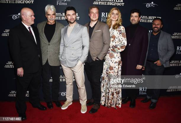 Larry Miller Sam Elliott Aidan Turner Robert D Krzykowski Caitlin Fitzgerald Ron Livingston and Rizwan Manji arrive at RLJE Films' The Man Who Killed...