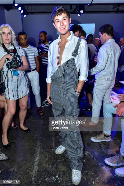Larry Milstein attends Todd Snyder S/S 2019 Collection during NYFW Men's July 2018 at Industria Studios on July 11 2018 in New York City