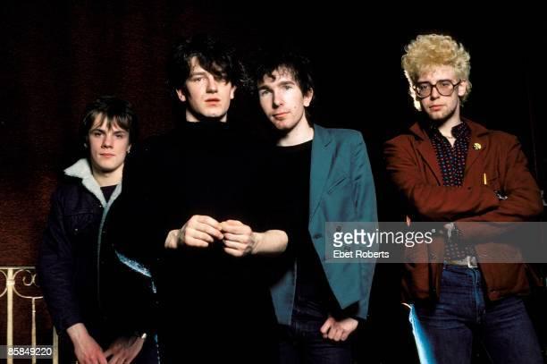 UNITED STATES MARCH 07 U2 LR Larry Mullen Jnr Bono The Edge Adam Clayton posed studio group shot