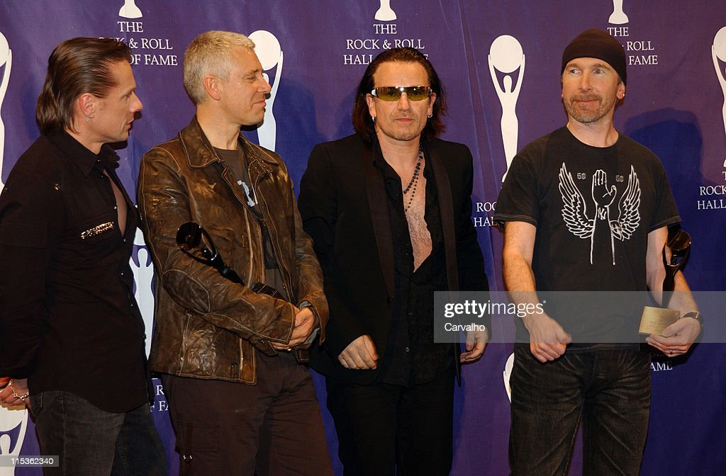 Larry Mullen Jr., Adam Clayton, Bono and The Edge of U2, inductees