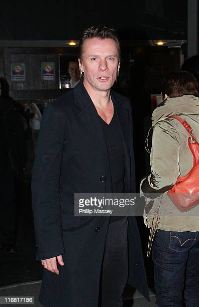 Larry Mullen Jr leaves the 'Late Late Show' at RTE Studios on February 22 2008 in Dublin Ireland