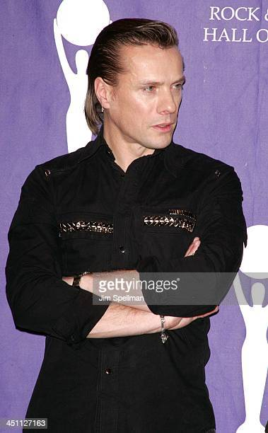 Larry Mullen Jr of U2 inductee during 20th Annual Rock and Roll Hall of Fame Induction Ceremony Press Room at Waldorf Astoria Hotel in New York City...