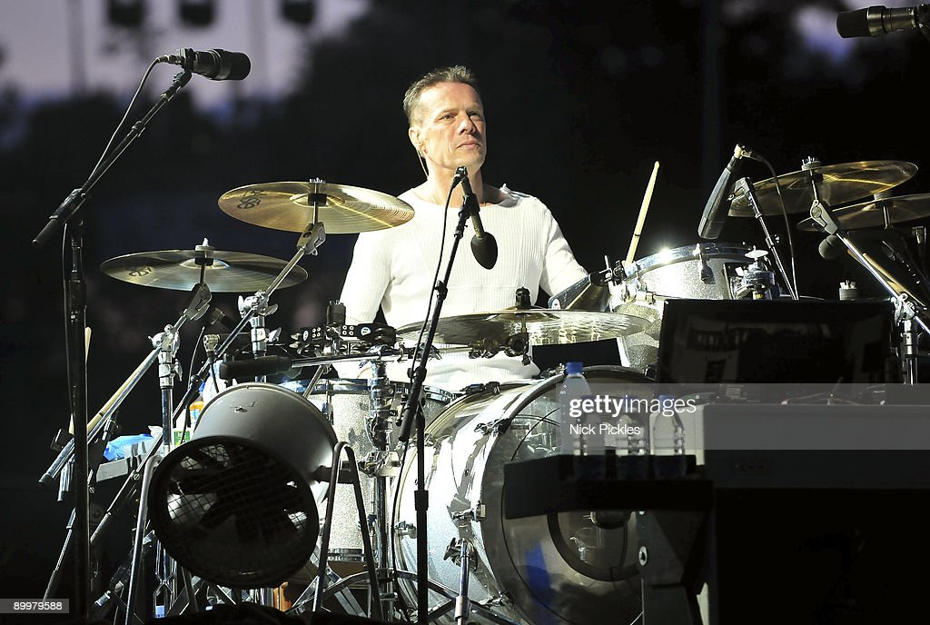 Larry Mullen Jr. of U2 performs at Don Valley Stadium on August 20, 2009 in Sheffield, England.