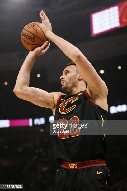 Larry Nance Jr #22 of the Cleveland Cavaliers attempts a shot in the first quarter against the Milwaukee Bucks at the Fiserv Forum on March 24 2019...