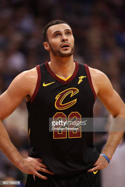 Larry Nance Jr #22 of the Cleveland Cavaliers during the first half of the NBA game against the Phoenix Suns at Talking Stick Resort Arena on March...