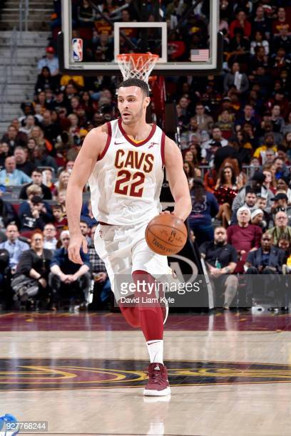 Larry Nance Jr #22 of the Cleveland Cavaliers handles the ball during the game against the Detroit Pistons on March 5 2018 at Quicken Loans Arena in...