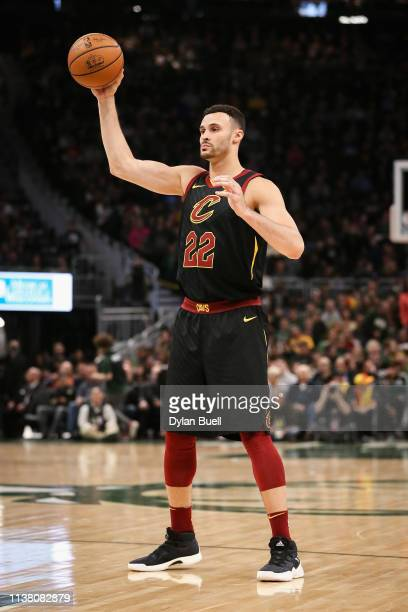 Larry Nance Jr #22 of the Cleveland Cavaliers handles the ball in the second quarter against the Milwaukee Bucks at the Fiserv Forum on March 24 2019...