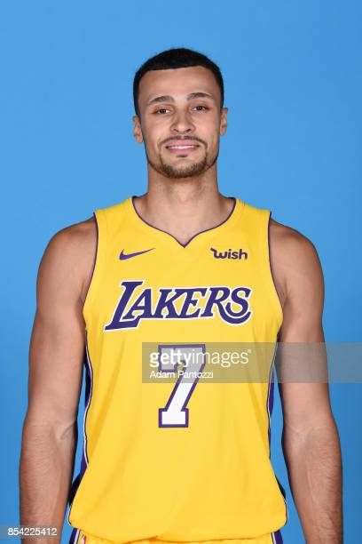 Larry Nance Jr #7 of the Los Angeles Lakers poses for a head shot during media day at UCLA Health Training Center on September 25 2017 in El Segundo...