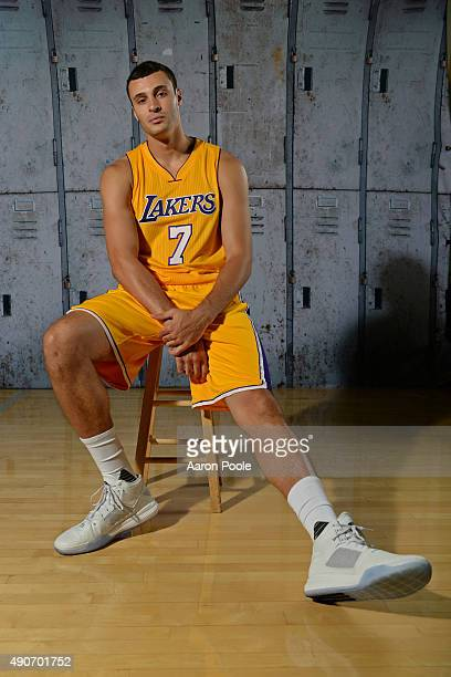 Larry Nance Jr #7 of the Los Angeles Lakers poses for a portrait during media day at Toyota Sports Center on September 28 2015 in El Segundo...
