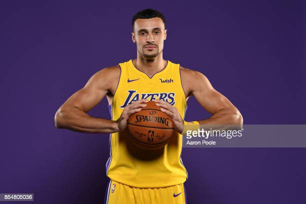 Larry Nance Jr #7 of the Los Angeles Lakers poses for a portrait during media day at UCLA Health Training Center on September 25 2017 in El Segundo...