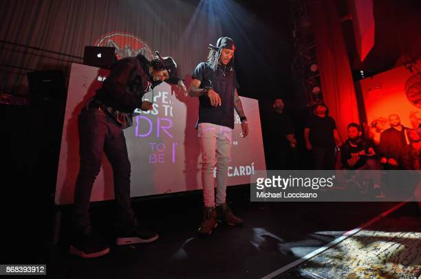 Larry Nicolas Bourgeois and Laurent Bourgeois of Les Twins attend BACARDI presents Dress To Be Free with performances by Cardi B and Les Twins at...