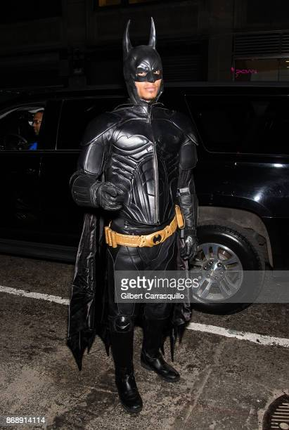 Larry Nicolas Bourgeois of Les Twins is seen during Heidi Klum's 18th Annual Halloween Party at Magic Hour Rooftop Bar Lounge on October 31 2017 in...