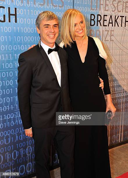 Larry Page and Lucy Southworth attend the 2014 Breakthrough Prize Inaugural Ceremony for Awards in Fundamental Physics and Life Sciences at NASA Ames...