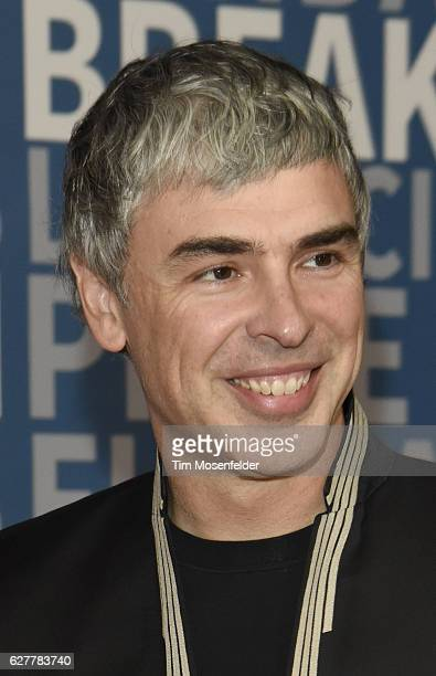 Larry Page attends the 5th Annual Breakthrough Prize Ceremony at NASA Ames Research Center on December 4 2016 in Mountain View California