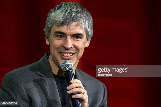 Larry Page cofounder of Google Inc and chief executive officer of Alphabet Inc speaks during the 2015 Fortune Global Forum in San Francisco...