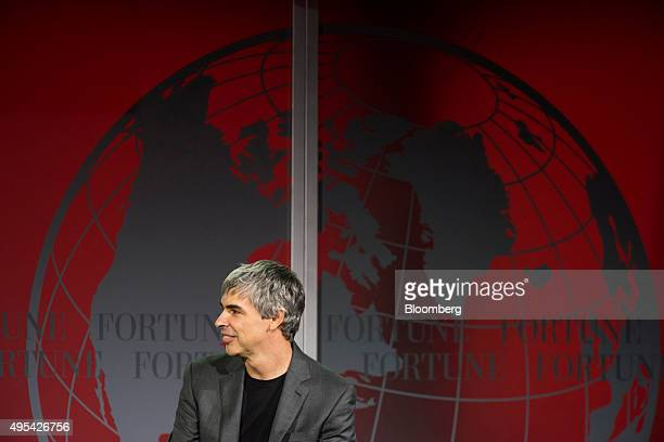 Larry Page cofounder of Google Inc and chief executive officer of Alphabet Inc listens during the 2015 Fortune Global Forum in San Francisco...