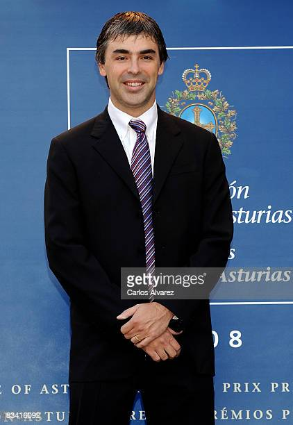 Larry Page Founder of Google arrives at the Reconquista Hotel on October 24 2008 in Oviedo Spain