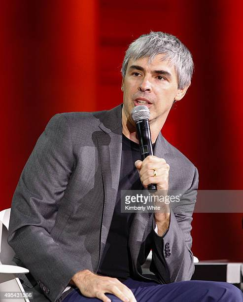 Larry Page speaks during the Fortune Global Forum at the Legion Of Honor on November 2 2015 in San Francisco California