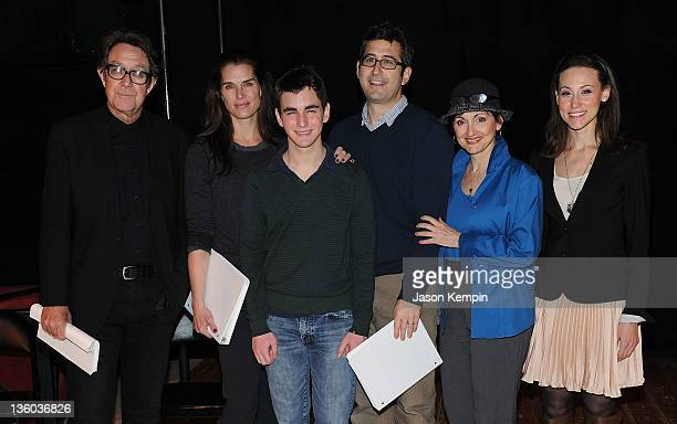 Larry Pine Brooke Shields Aaron Simon Gross Sam Seder Robin Strasser and Elana Safar attend the staged reading of A Tomato Can't Grow in the Bronx at...