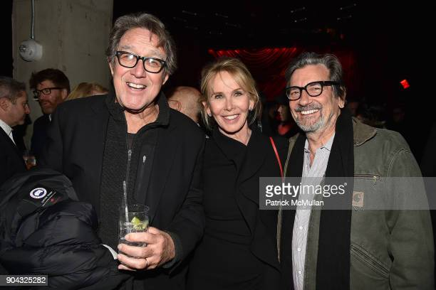 Larry Pine Trudie Styler and Griffin Dunne attend The Cinema Society Bluemercury host the after party for IFC Films' Freak Show at Public Arts on...